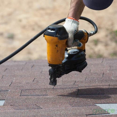 Contractor Installing New Shingles for Asphalt Shingle Repair