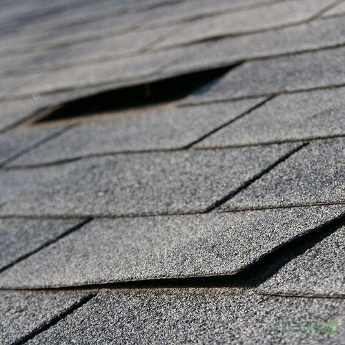 Roof Wind Damage Repairs Needed for Asphalt Shingles