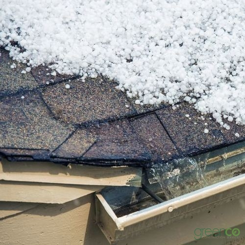 Hail Built Up on Roof Resulting in Emergency Roof Repair Need