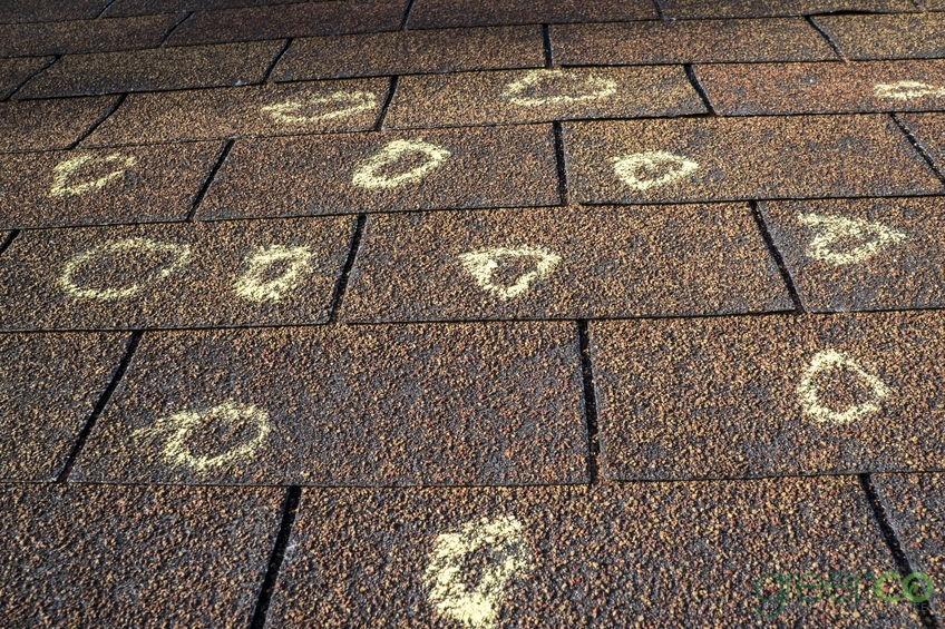 Hail Damaged Roof Needing a Roof Insurance Claim